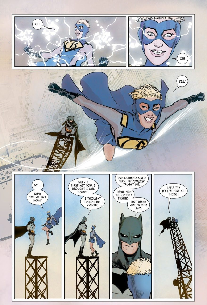 Batman Gives Gotham Girl Platinum Kryptonite