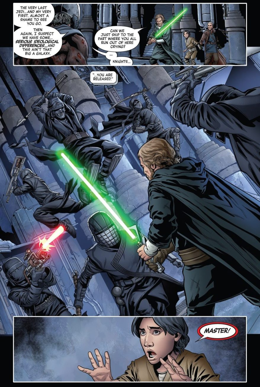 Luke Skywalker VS The Knights Of Ren