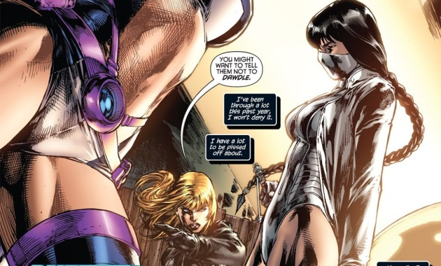 Black Canary And Huntress VS White Canary