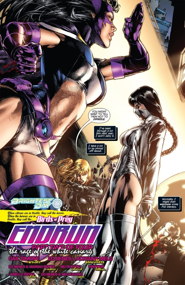 Black Canary And Huntress Vs White Canary Comicnewbies