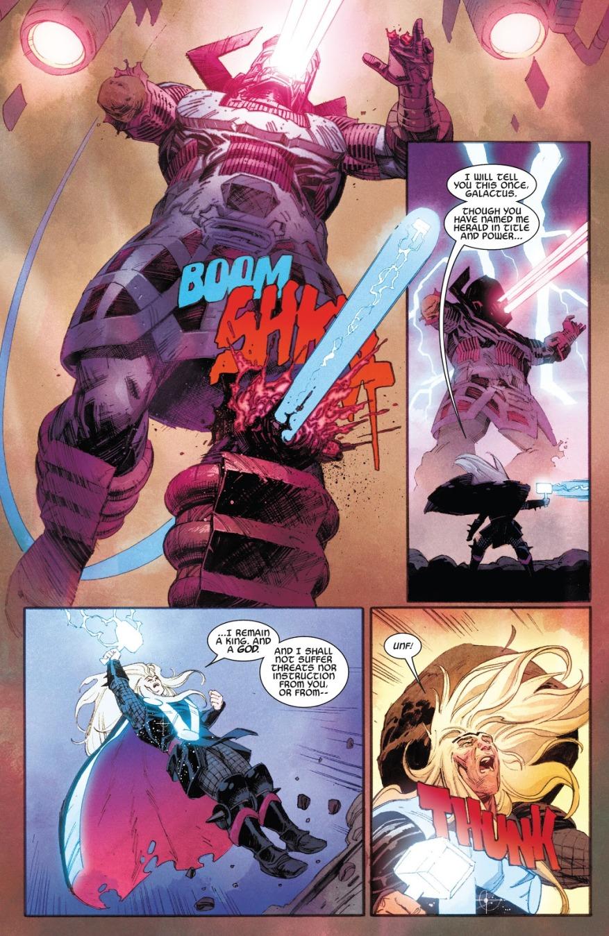Thor Attacks Galactus