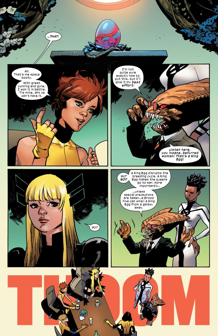 Cyclops And Magik Tag Team Against The Brood