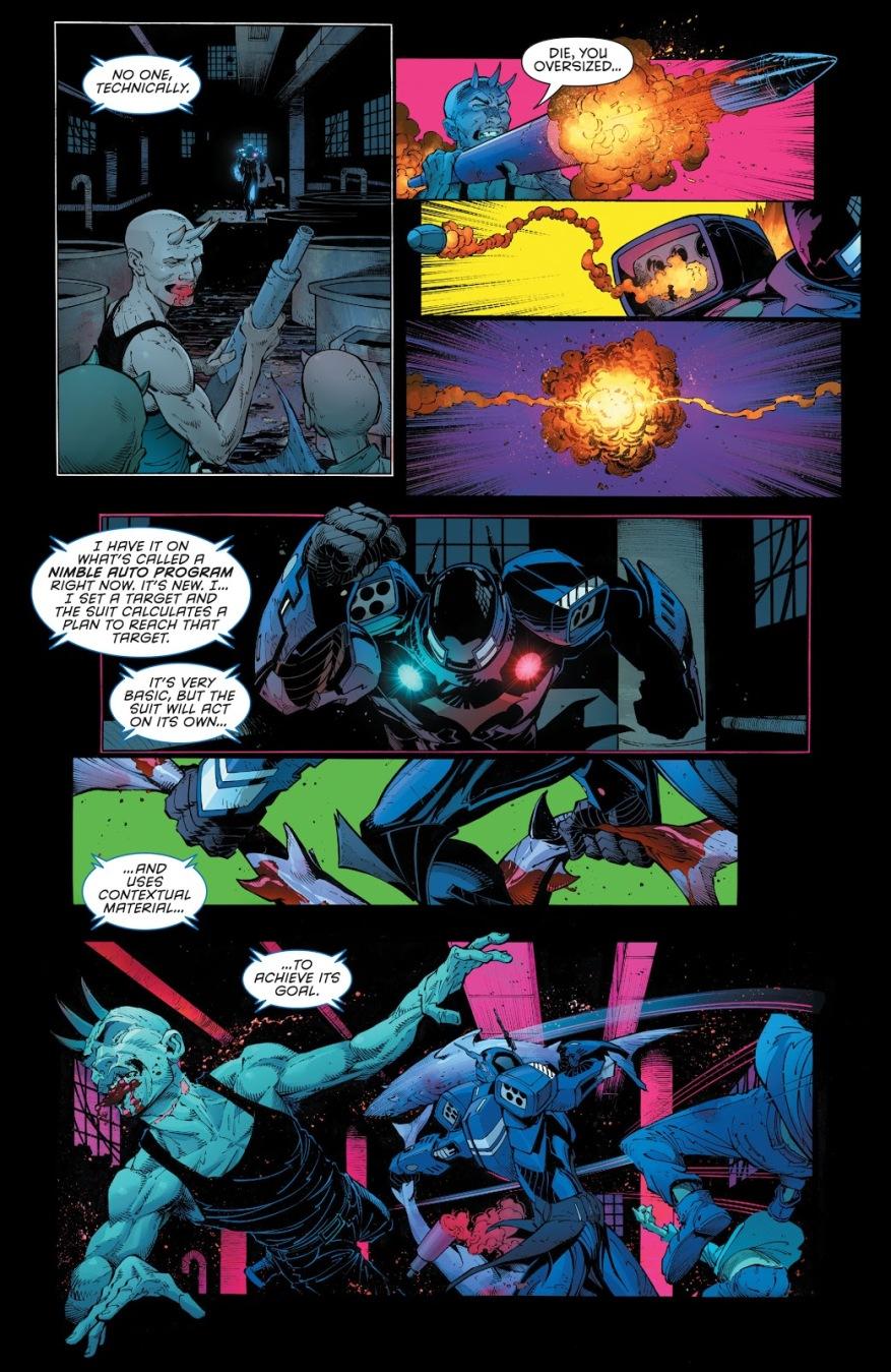 Jim Gordon's Batsuit Using Sharks As Weapons