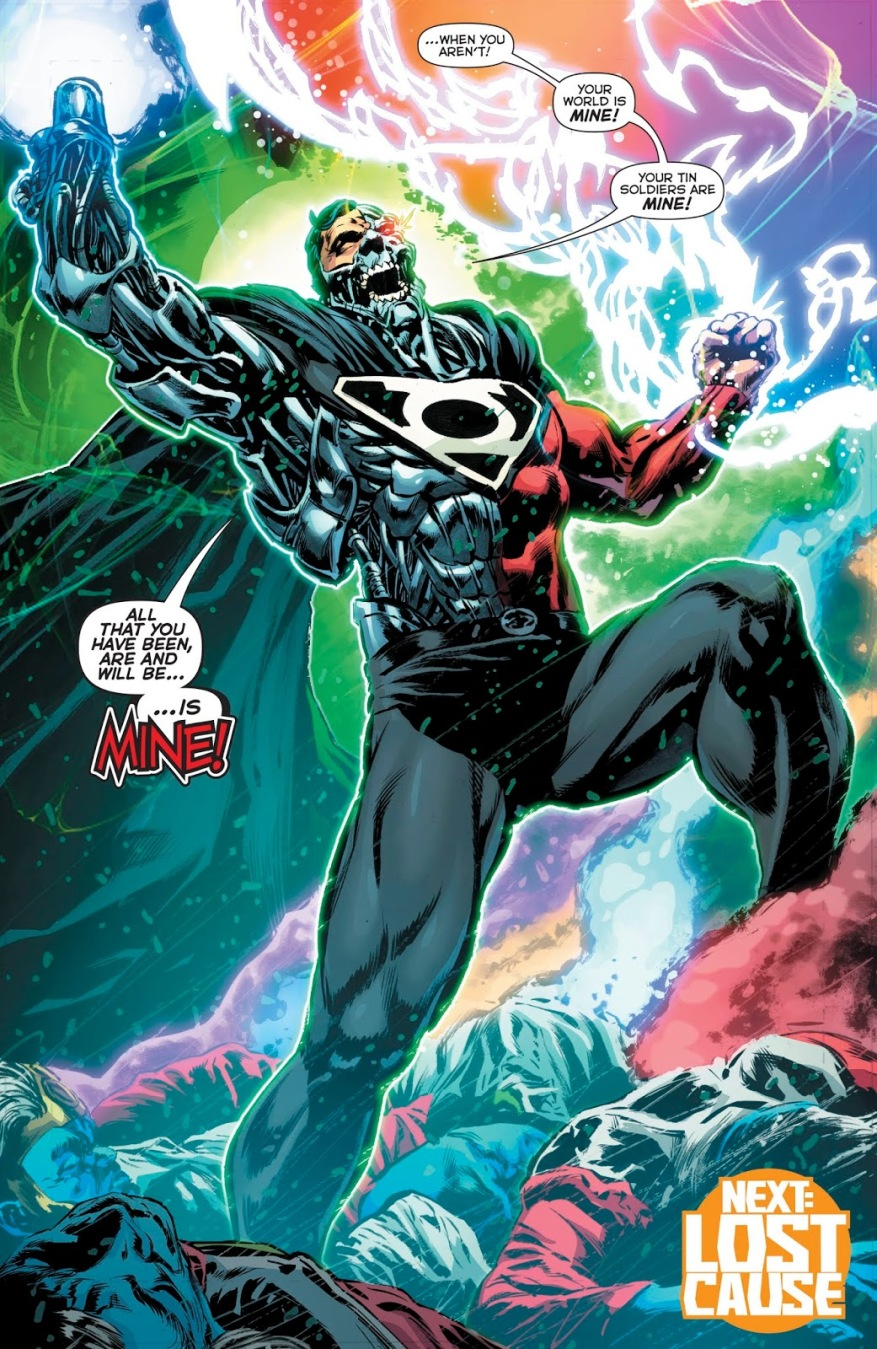 Cyborg-Superman Uses The Phantom Ring Against The Guardians