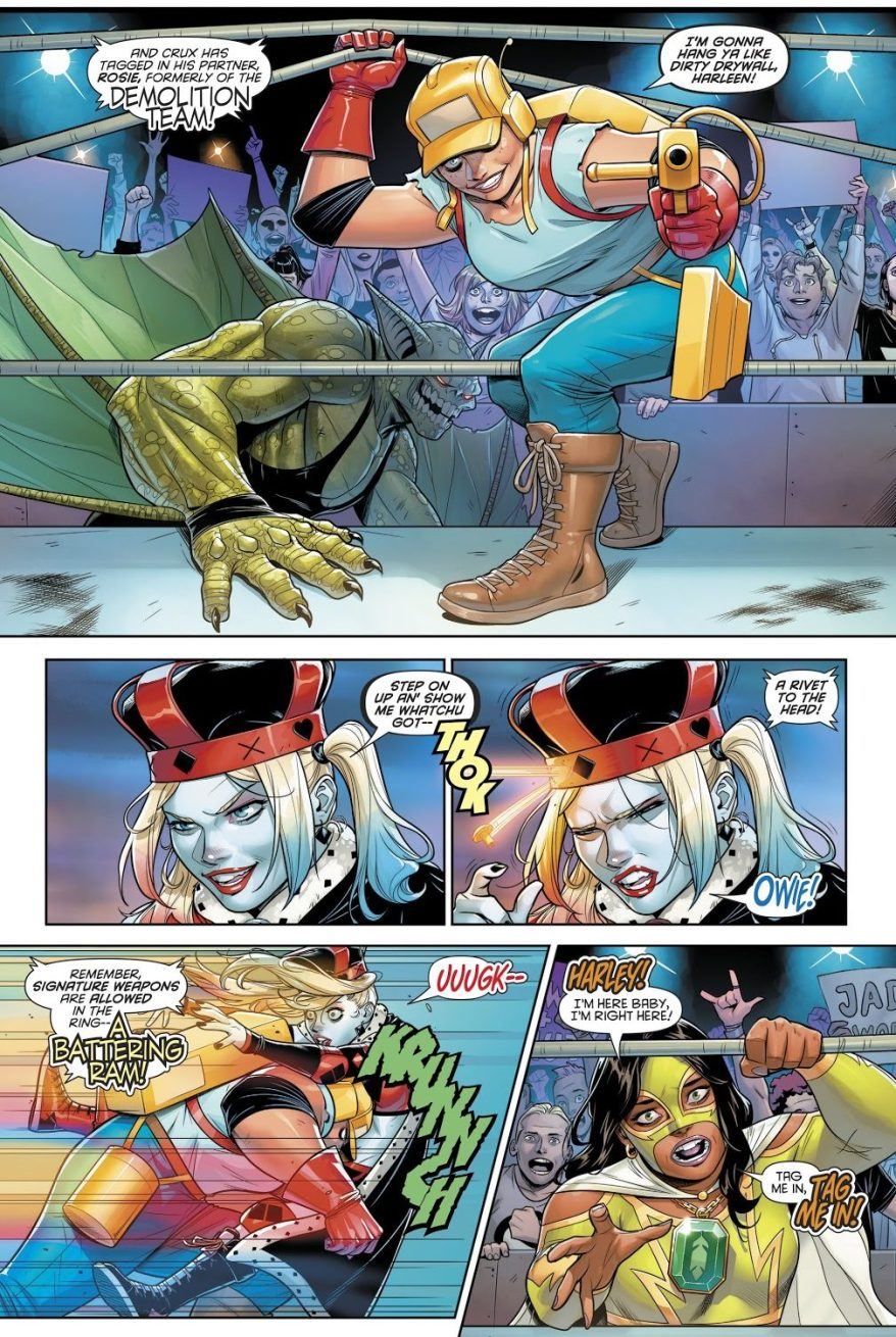 Harley Quinn As A Professional Wrestler