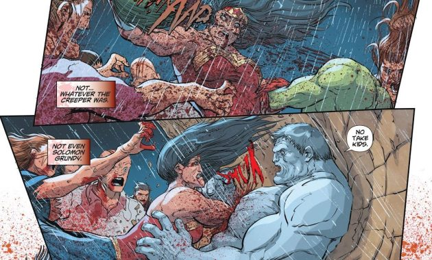 Zombie Wonder Woman VS Cheetah, Creeper And Solomon Grundy (DCeased)