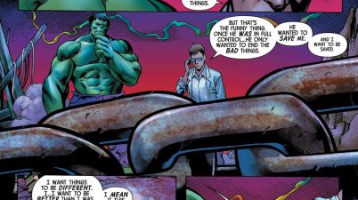Bruce Banner Apologizes To Savage Hulk