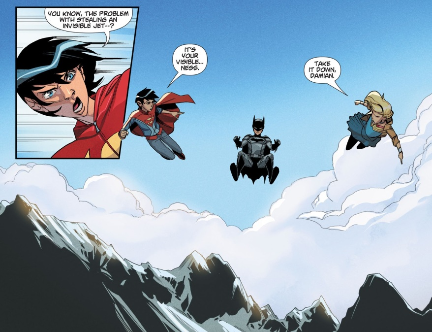 Damian Wayne Steals Wonder Woman's Invisible Jet (DCeased)