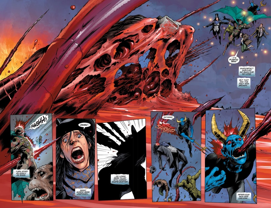 Undead Plastic Man Kills Shadowpact (DCeased)