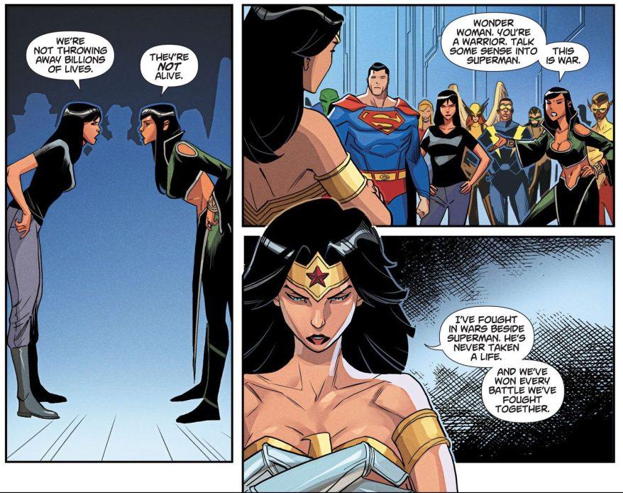 Lois Lane VS Talia Al Ghul (DCeased)